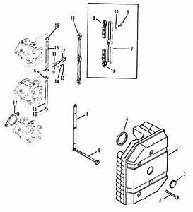 Mercury Marine 60 Hp  3 Cylinder  Attenuator Plate Parts