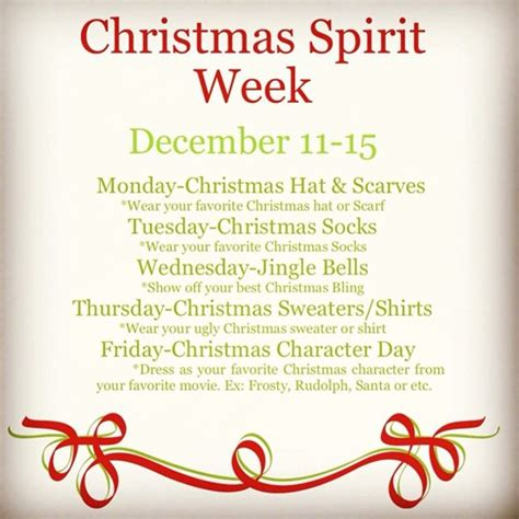 The magi may also appear, and are sometimes not placed in the scene until the week following christmas to account for their travel time to bethlehem. Christmas Spirit Week - Jackson County Middle School