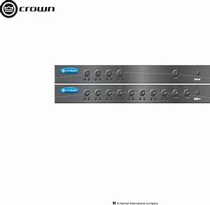 Crown Audio Stereo Amplifier 28m User Guide