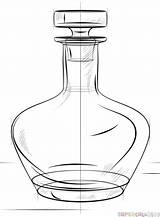 Bottle Draw Drawing Line Step Beer Flask Easy Drawings Supercoloring Tutorials Realistic Basic Getdrawings Heel Shoe Coloring Tutorial sketch template
