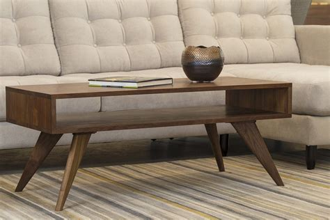 This coffee table is built from ash and walnut. Mid Century Modern Coffee Table Solid Wood Handmade