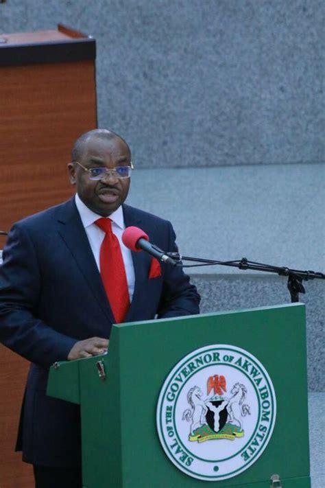 address   excellency  udom emmanuel governor
