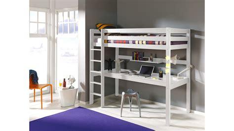 lit avec bureau lit mezzanine 1 place avec bureau clara en pin massif so