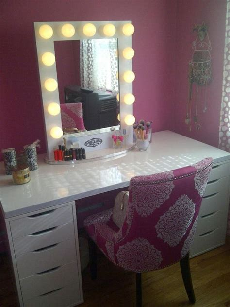 vanity table with lighted mirror photos designs and