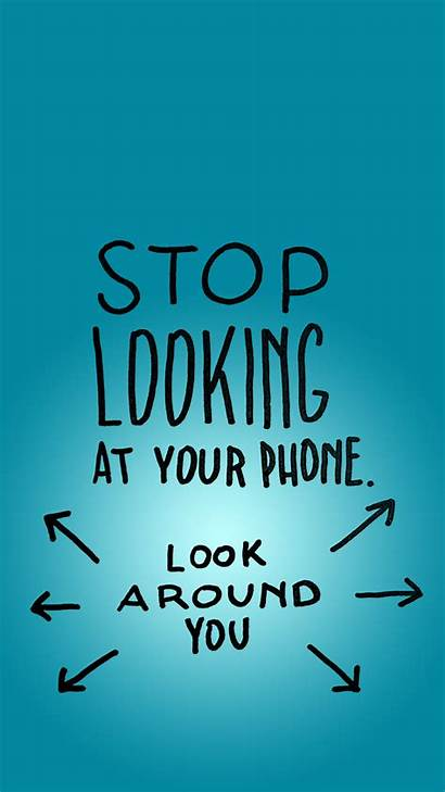 Wallpapers Stop Iphone Phone Addiction Looking Mindfulness