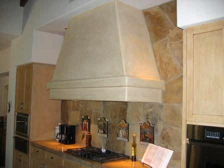 plastered spanish style range hood stove exhaust hood