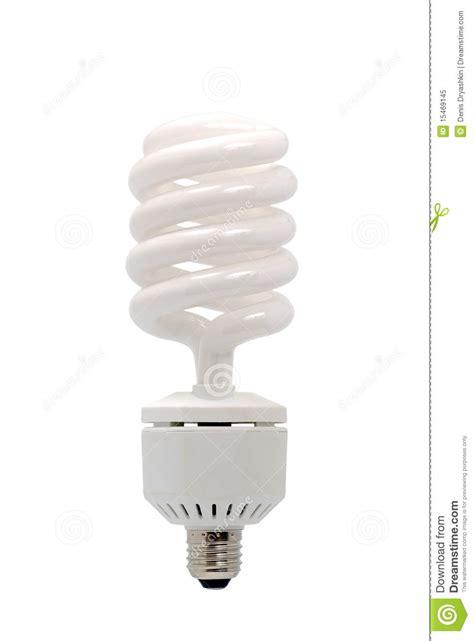 energy saving fluorescent light bulb royalty free stock