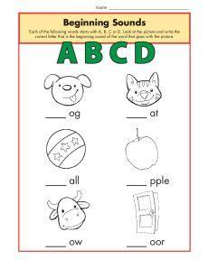 HD wallpapers initial sounds worksheets for kindergarten