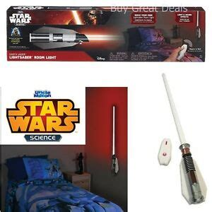 lightsaber light l remote control luke jedi kids wall mounted new ebay