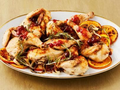 clementine  cranberry glazed cornish game hens recipe