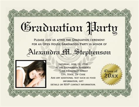 graduation certificate templates samples examples