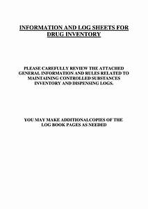 Mileage Log Forms Controlled Substance Inventory Log Printable Pdf Download