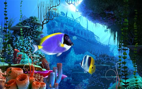 Animated Wallpapers For Desktop Free Version - free version 3d screensavers coral reef 3d
