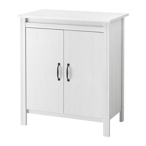 Ikea Kitchen Cabinet Doors White by Brusali Cabinet With Doors White Ikea