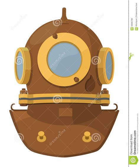 Under The Sea Decoration by Cartoon Diving Helmet Stock Vector Image 56685798