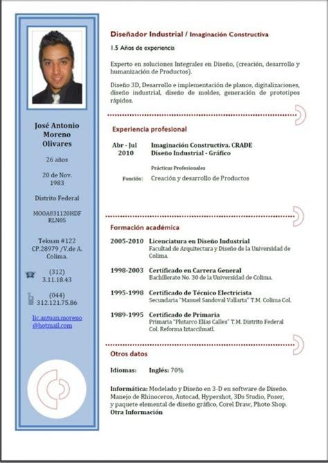 Templates De Resume En Espanol by Formatos De Curriculum Vitae En Espa 227 177 Ol Resume Template