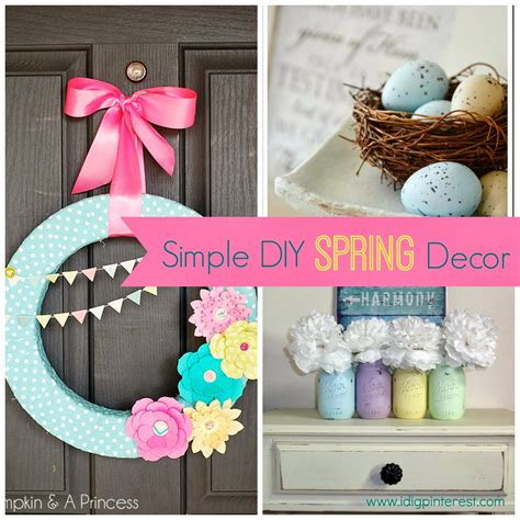 ideas homemade centerpiece for parties my home design simple diy spring decor ideas i dig pinterest