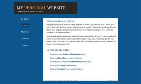 simple css templates 7 html css personal website templates free