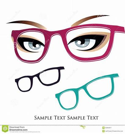 Glasses Eyes Text Colored Three Royalty