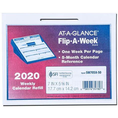 glance swx flip week calendar refill