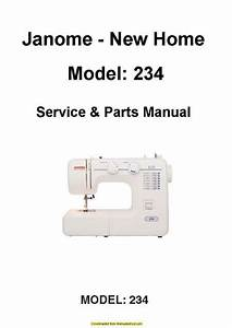 Janome New Home 234 Sewing Machine Service