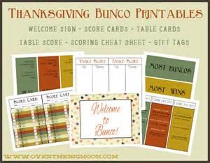 thanksgiving bunco printables