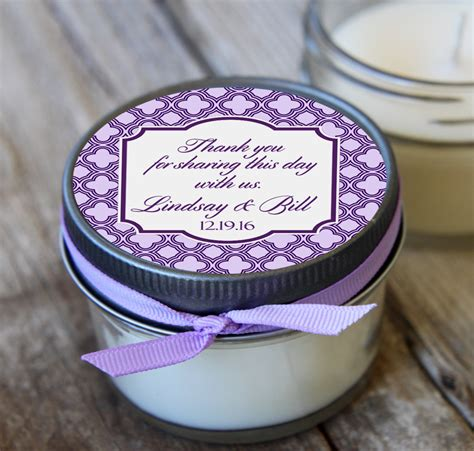 12 4 Oz Wedding Favorlavender Wedding Favorsoy