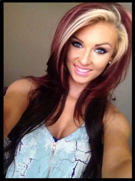 Hair Color Beautiful Different Two Colors Hair