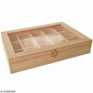 Boite A Compartiment : boite de rangement en bois 31 5 x 22 cm 15 compartiments boite en bois d corer creavea ~ Teatrodelosmanantiales.com Idées de Décoration