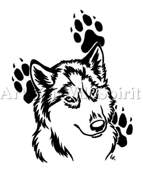 Pin by Nancy Cole on wolf images | Husky tattoo, Tattoo designs, Wolf paw tattoos