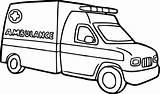Ambulance Coloring Transportation Printable Drawing Vingel sketch template