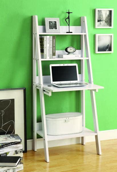 modern white ladder desk bookcase combination  flip