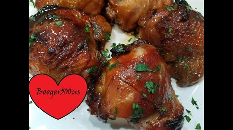 air chicken fryer thighs korean bbq sauce cj