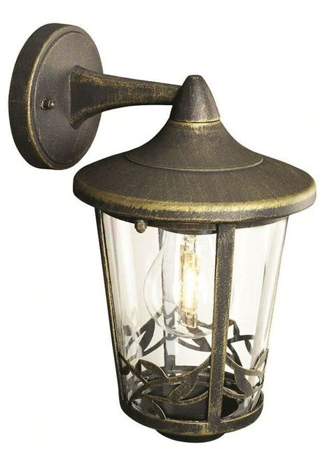 traditional outdoor wall light down light brushed black