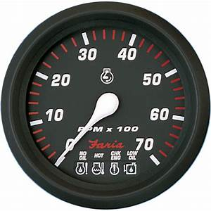 Faria Professional Red 4 U0026quot  Tachometer  System