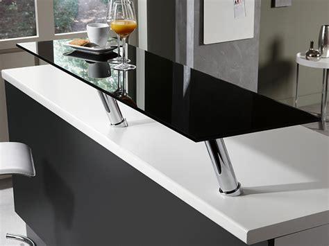 plan de travail noir design en verre photo 4 20 un beau tr 232 s beau plan snack chrom 233 pour les