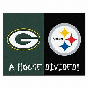 FANMATS NFL Packers / Steelers Green House Divided 2 ft