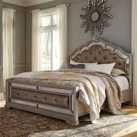 signature design by ashley birlanny queen upholstered bed