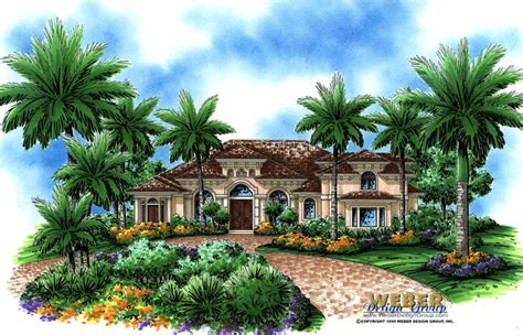 Courtyard Mediterranean Style House Plans U Shaped With In