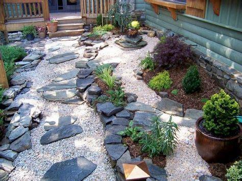 Garten Gestalten Mit Steinen Und Pflanzen by Japanischer Garten Steine Kies Pflanzen Elemente Vorgarten