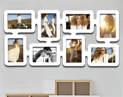 bilderrahmen fotogalerie 3 4 8 bilder holz rahmen bildergelarie collage 92 ebay