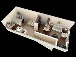Studio apartment floor plans amazing architecture magazine for Studio apartment floor plans 3d