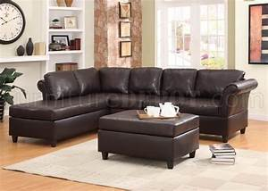 9905sc sectional sofa in dark brown by homelegance for Taylor sectional sofa and ottoman dark brown