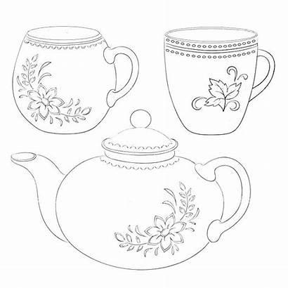 Teacup Printable Coloring Pages Tea Cup Getdrawings