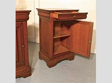 Pair of French Cherrywood Bedside Cupboards or Night