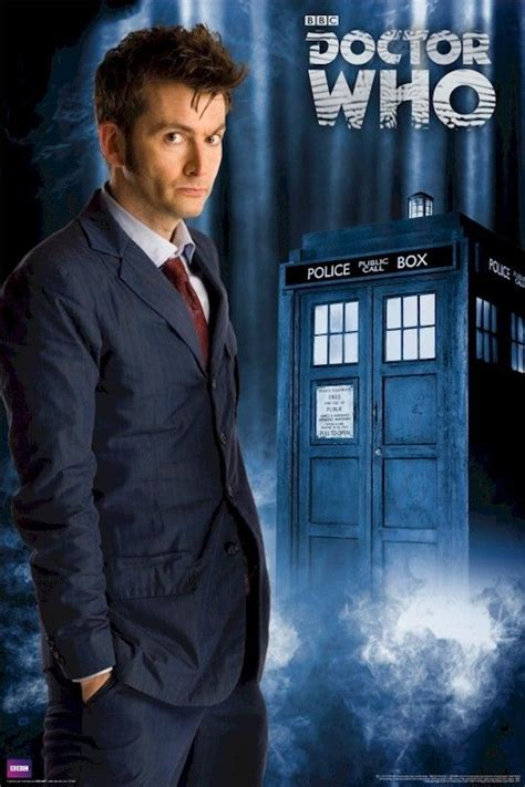 doctor who l doctor who 10 with tardis 24x36 poster david tennant