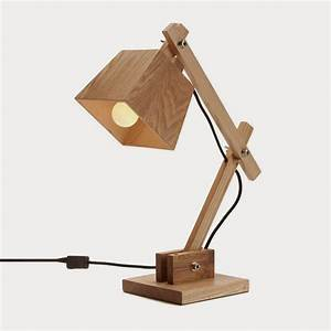 Design inspiration - Wooden table lamps Luxaflex
