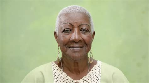 Portrait Of Old Black People, Happy Senior African