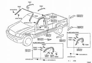 Toyota Tundra Grommet  Screw