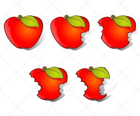 Apple Vector And Bitten Apple Vectors